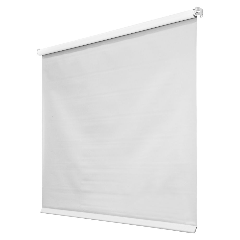 White Roller Blinds : Hampton bay in mil white vinyl roller shades