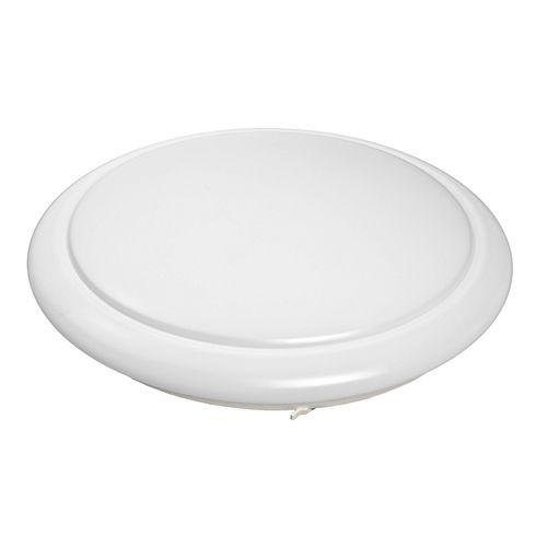 Hampton Bay 20-inch Round LED Flushmount Ceiling Light in White - ENERGY STAR®