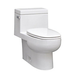 Icera USA The Vista 1-Piece Single-Flush Elongated Bowl Toilet in White