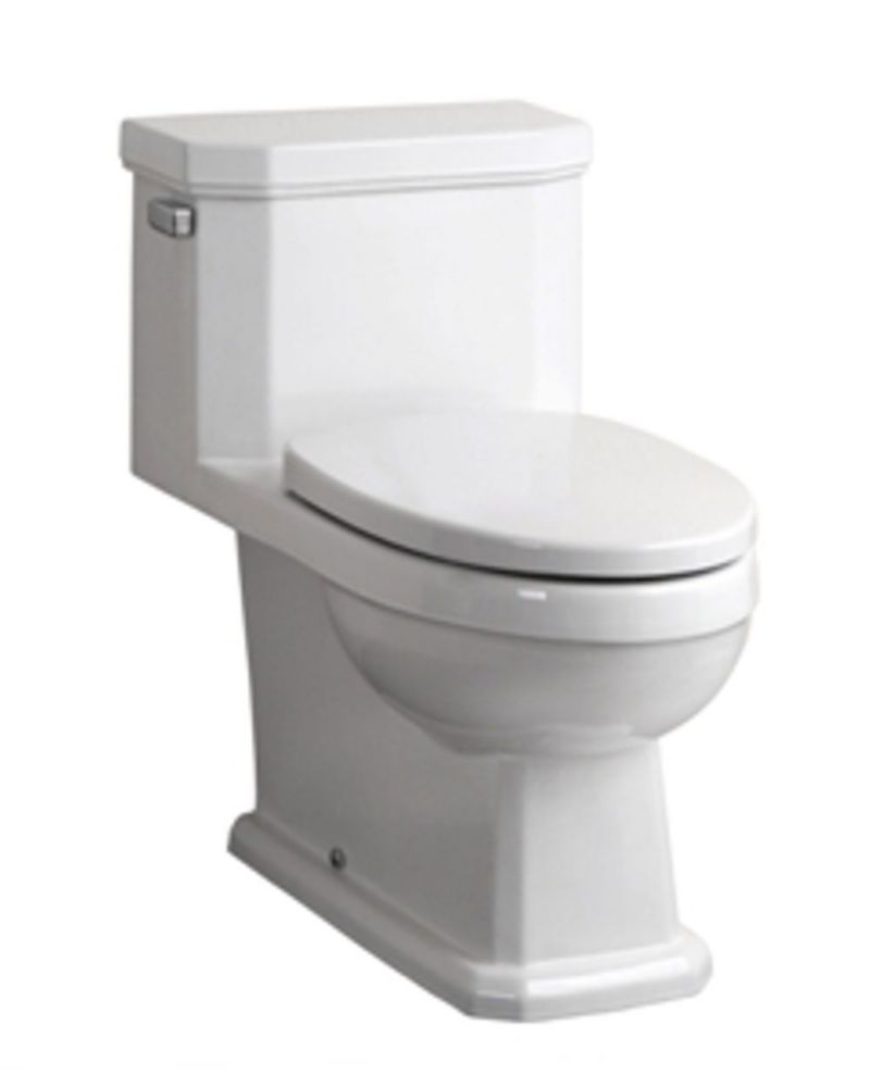 The Octave 1-piece 4.8 LPF Single Flush Elongated Bowl Toilet in White