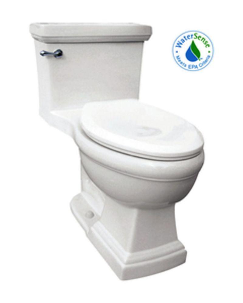 The Presley 1-piece 4.8 LPF Single Flush Elongated Bowl Toilet in White