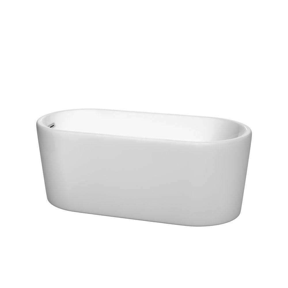 Ursula 4 Feet 11-Inch Drop-in Non Whirlpool Bathtub in White