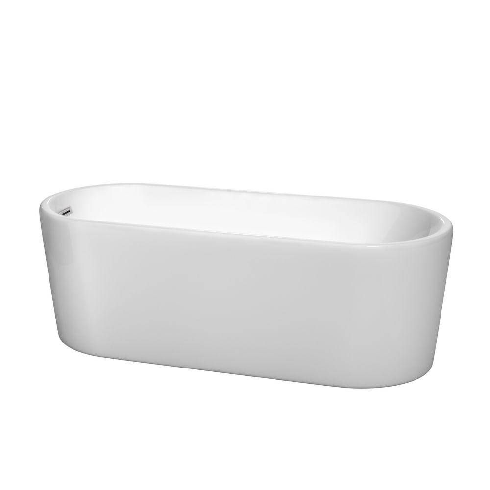 Ursula 5 Feet 6-Inch Drop-in Non Whirlpool Bathtub in White