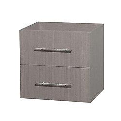Wyndham Collection Centra 24-inch  Vanity Cabinet in Grey Oak