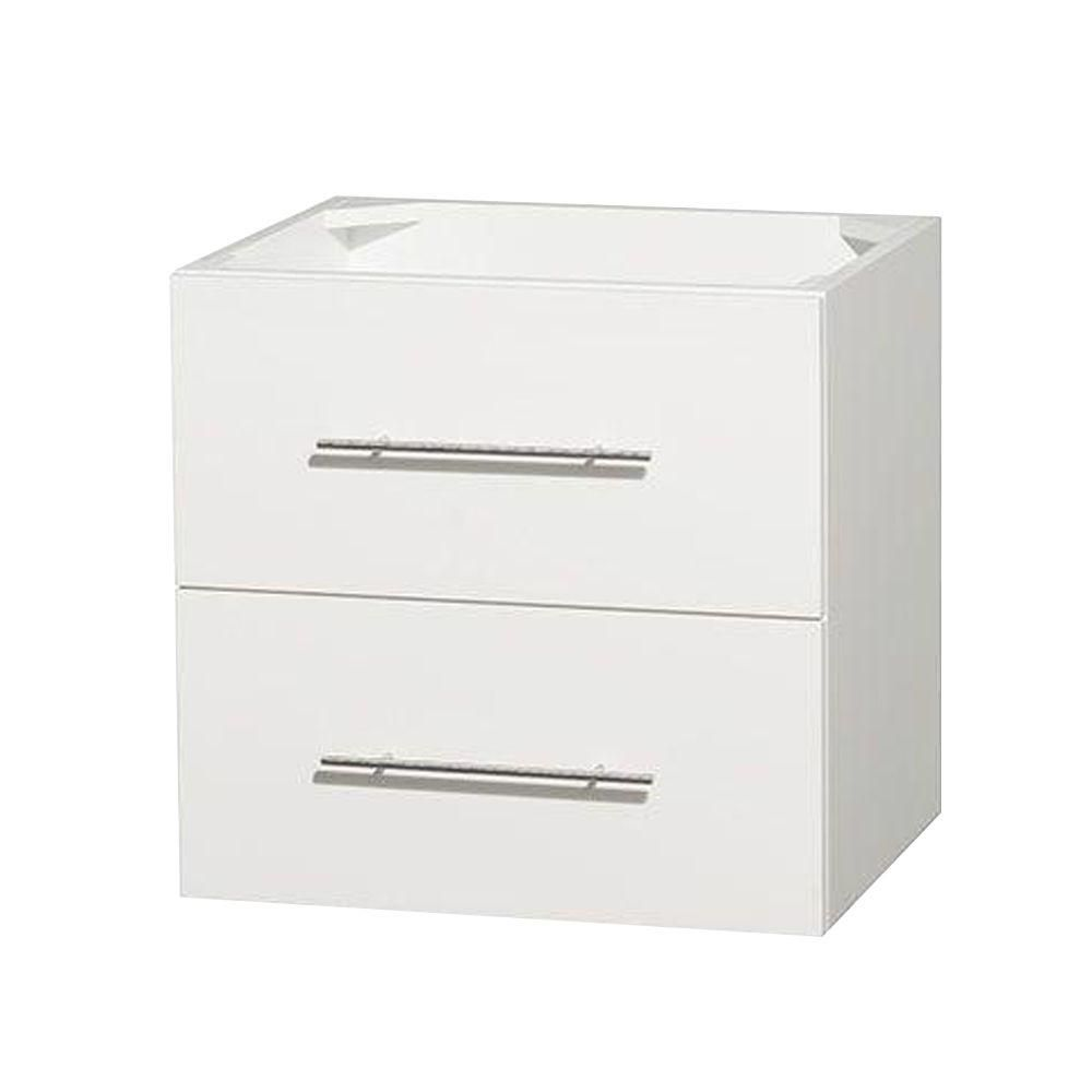 Wyndham Collection Centra 24-Inch  Vanity Cabinet in White