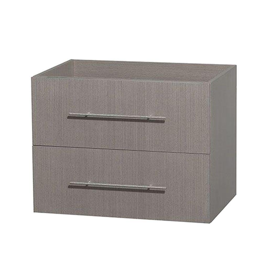 Meuble unique Centra 30 po. chêne gris sans comptoir ni lavabo ni miroir