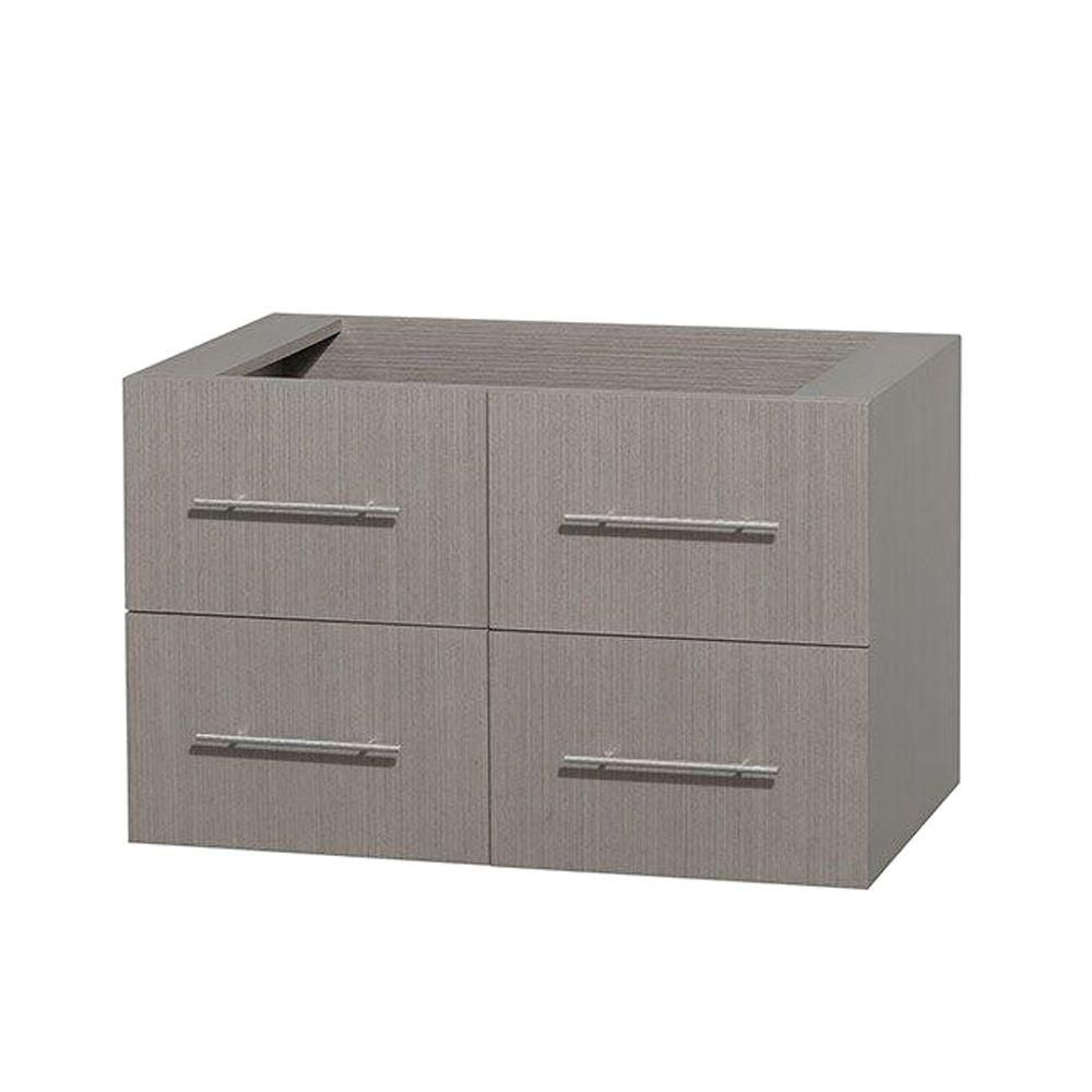 Centra 36-Inch  Vanity Cabinet in Grey Oak