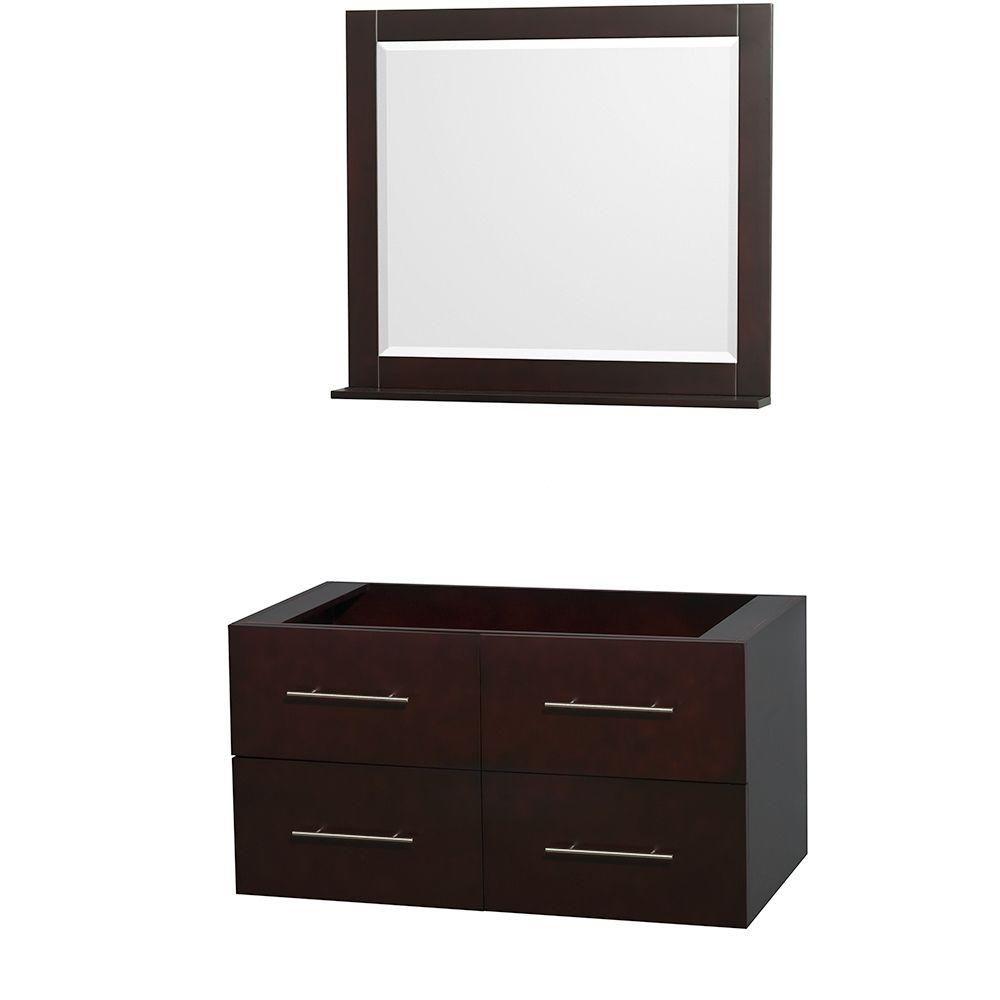 Centra 42-Inch  Vanity Cabinet with Mirror in Espresso