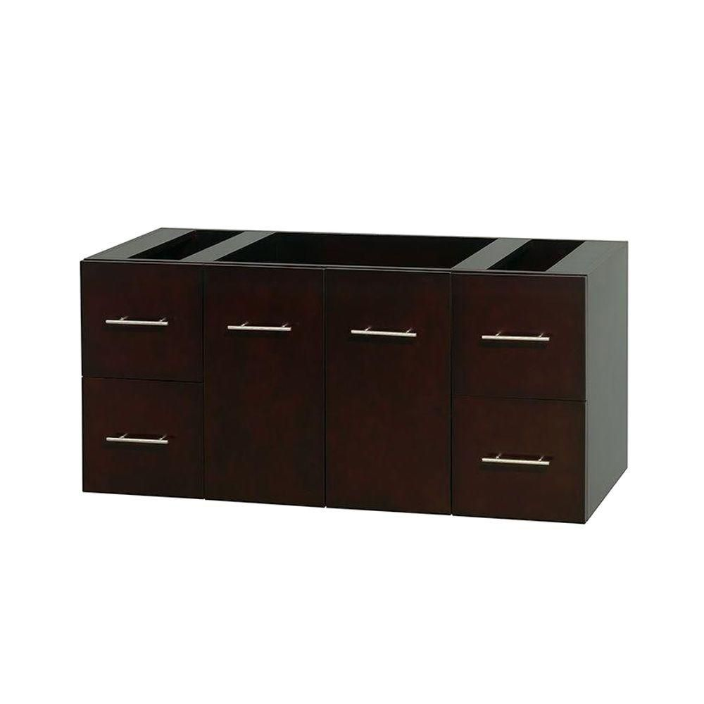 Centra 48 In. Single Vanity in Espresso and No Top and No Sink and No Mirror WCVW00948SESCXSXXMXX in Canada