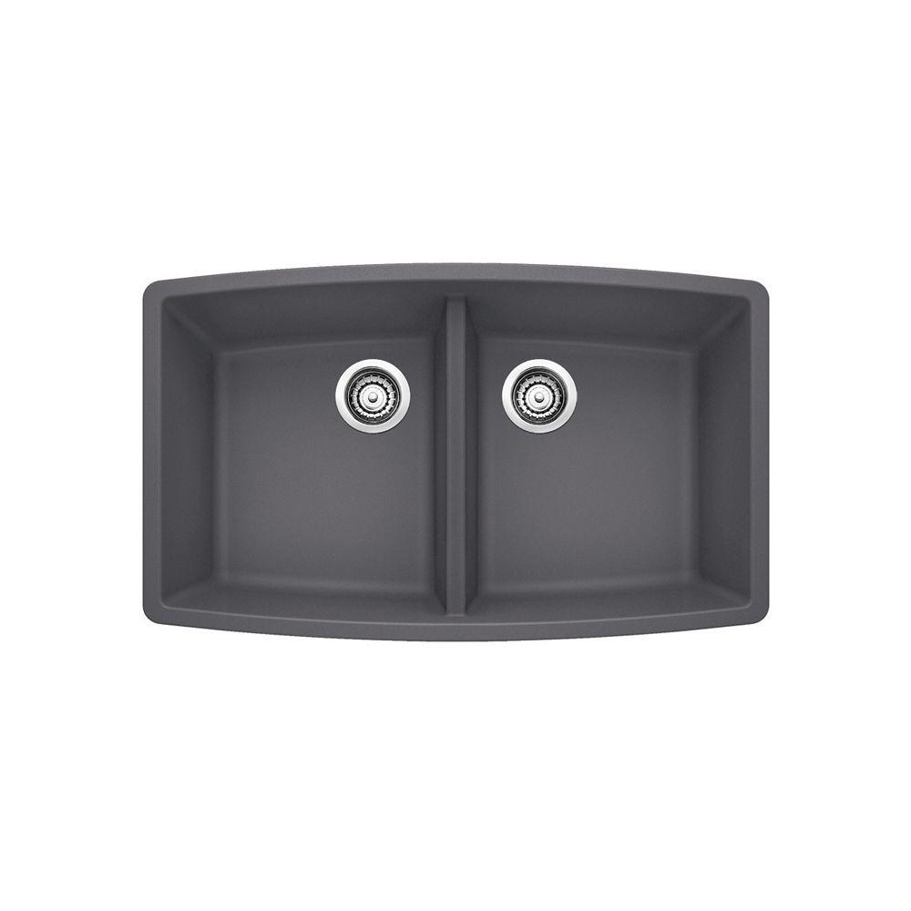 Performa U 2 Cinder Silgranit Sink