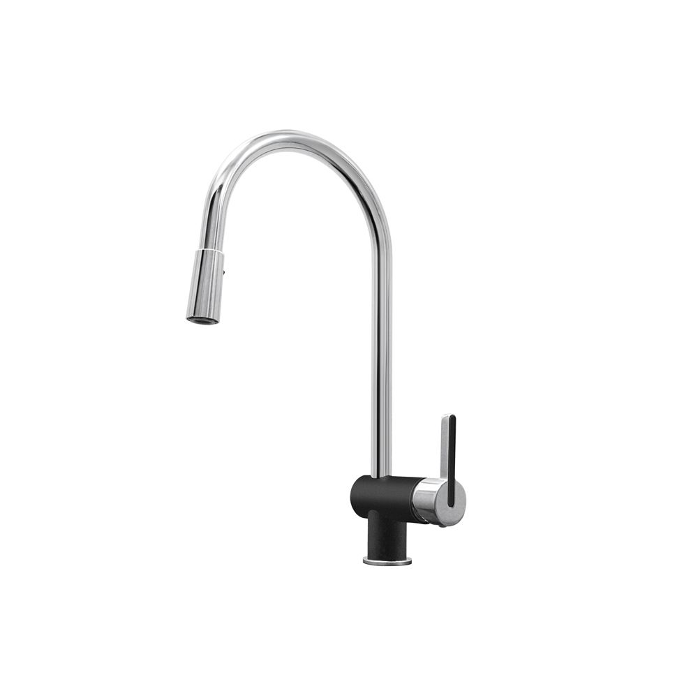 Rita, Pull Out, Dual Spray Faucet, Chrome/Anthracite SOP1425 in Canada