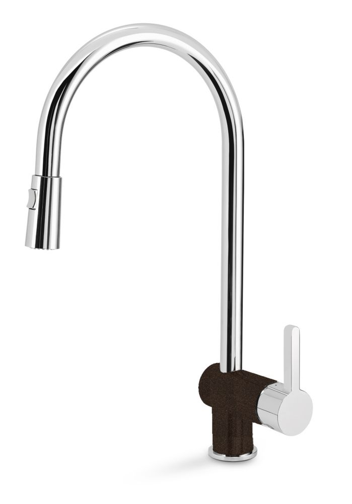 Rita, Pull Out, Dual Spray Faucet, Chrome/Café