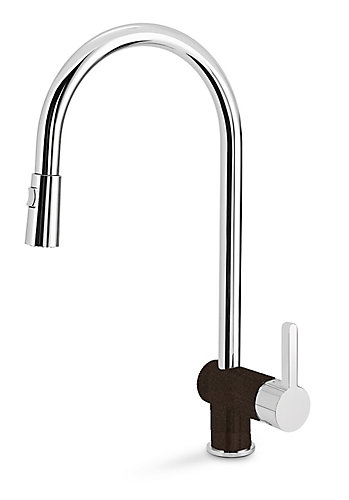 Blanco Rita, Pull Out, Dual Spray Faucet, Chrome/Café | The Home ...