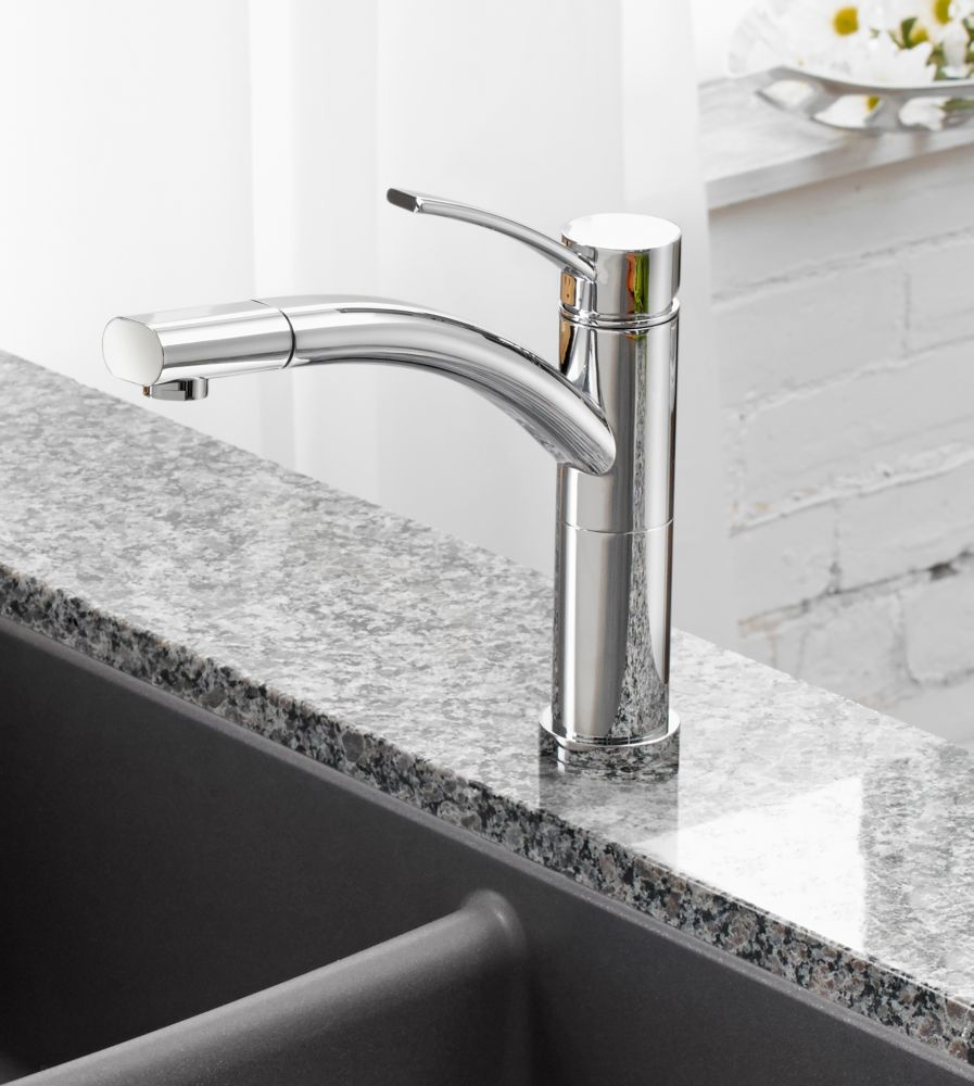 Leto, Pull Out, Single Spray Faucet, Chrome