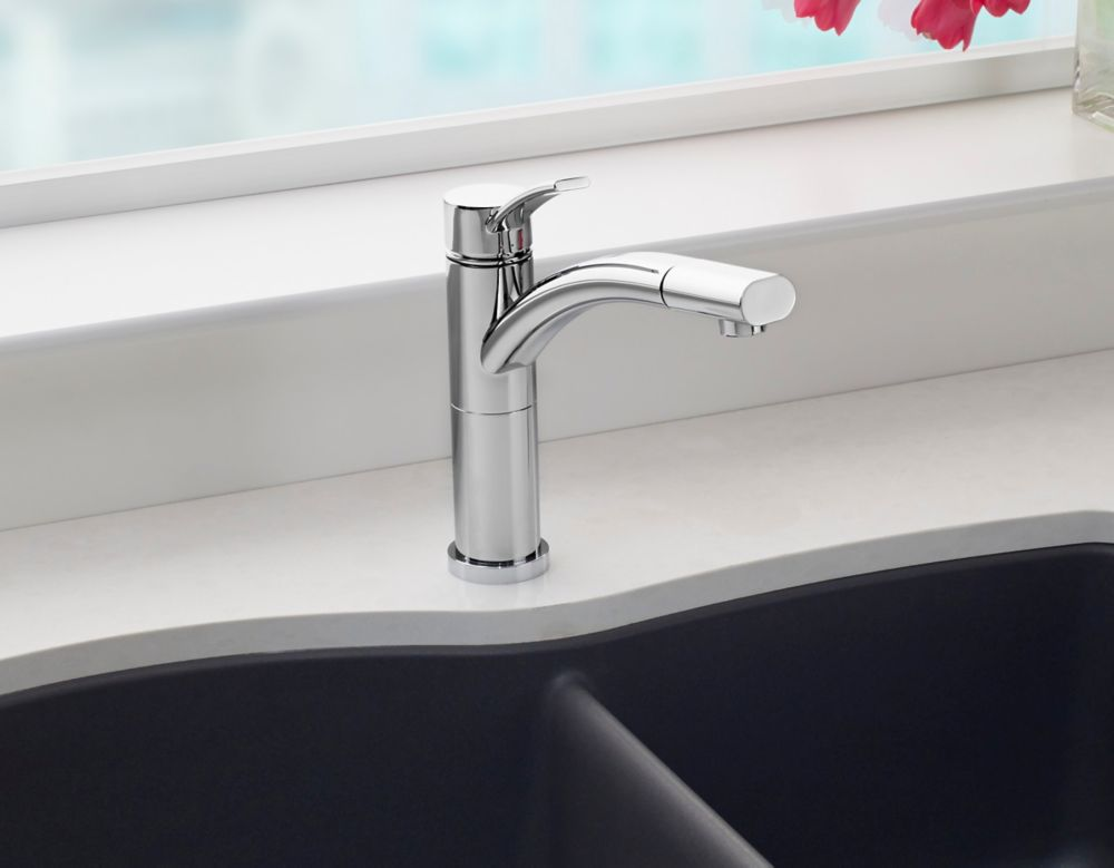 Leto, Pull Out, Single Spray Faucet, Stainless Steel SOP1429 Canada Discount