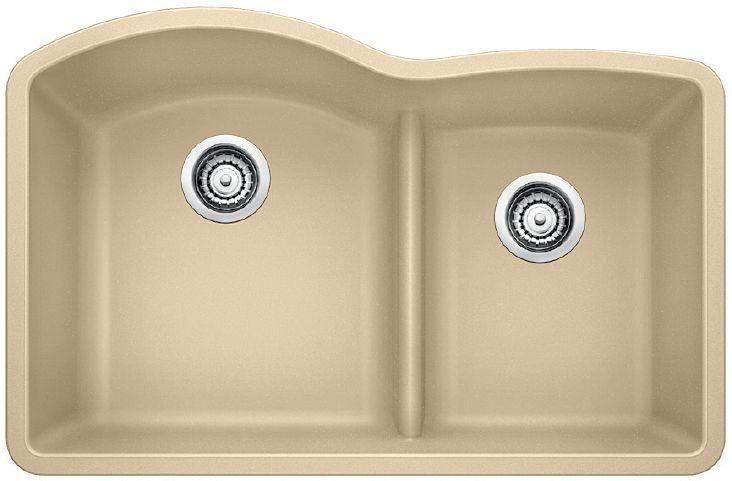 Diamond U1.75 Low Divide, Silgranit Sink, Undermount, Biscotti