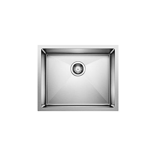 Quatrus R15 U1, Stainless Steel Sink, Single Bowl 9 In., Undermount