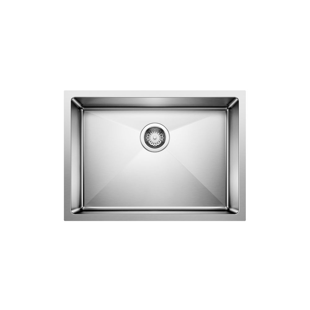 Quatrus R15 U1 Med, Stainless Steel Sink, Single Bowl 9 In., Undermount