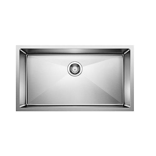 Quatrus R15 U Super 32-inch Single-Bowl Kitchen Undermount Sink in Stainless Steel