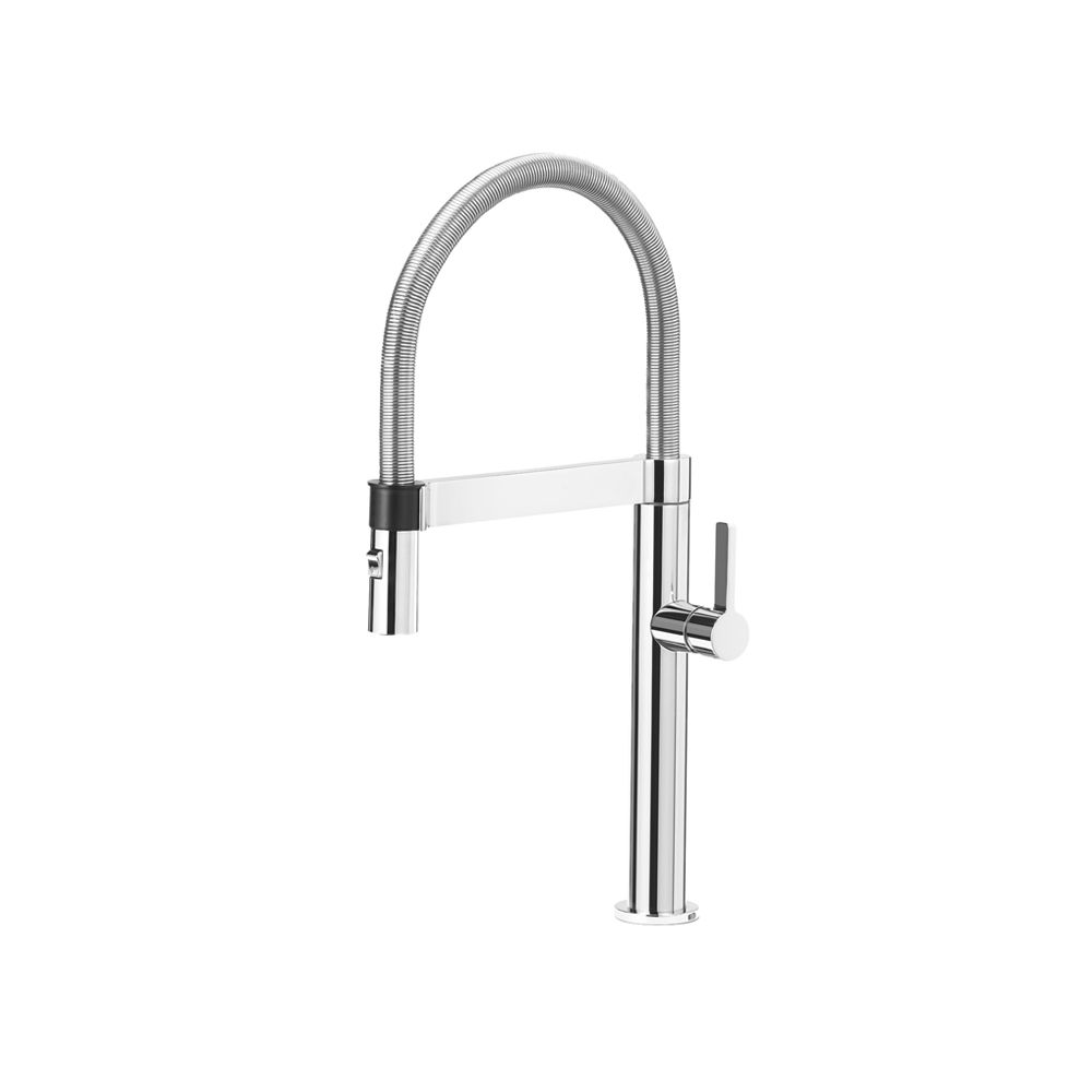 Blanco Premium Semi-Pro Faucet With Dual Spray, Chrome | The Home ...