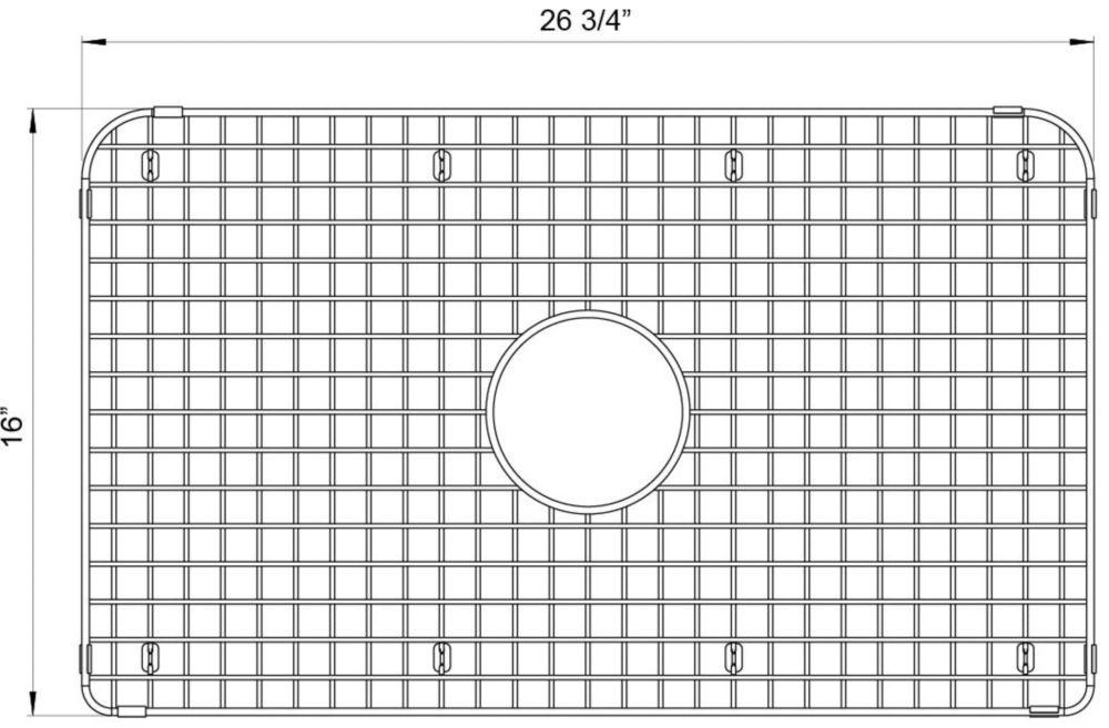 Blanco Stainless Steel Grid For Cerana