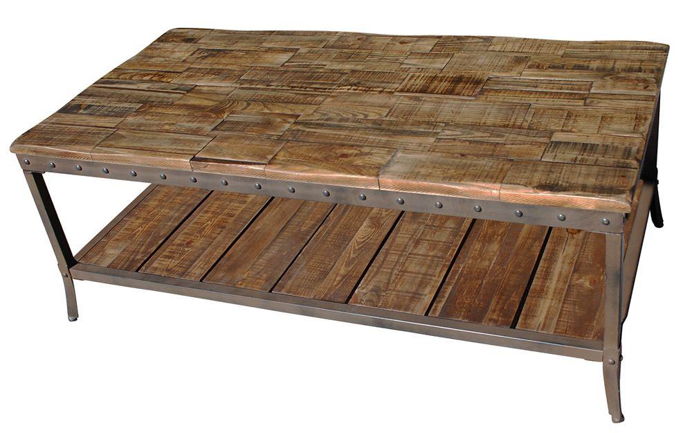 Trenton table de basse - pin vieilli