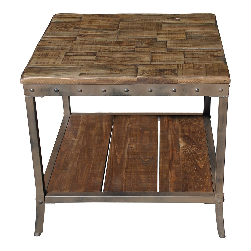 Trenton-Accent Table-Distressed Pine
