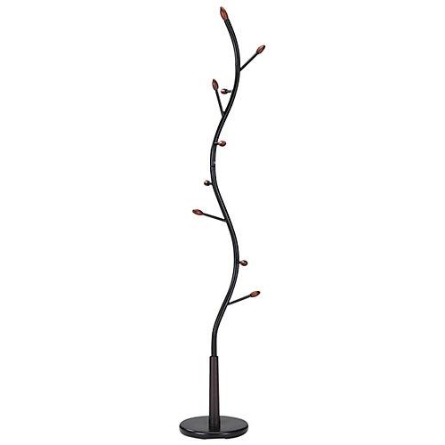 Brancha 9-Hook Coat Rack in Black