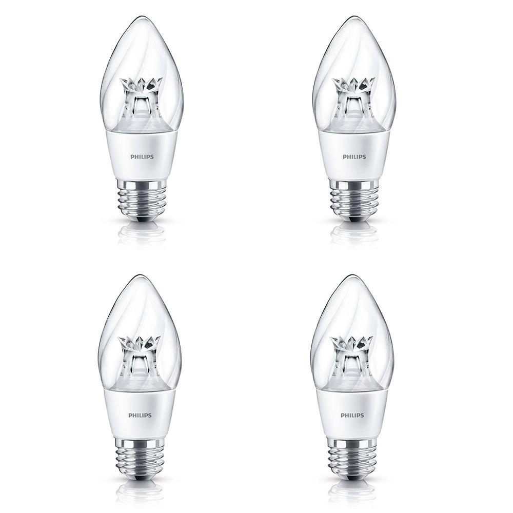 LED 6.5W 60W Postlight Chandelier Medium Base Soft White (2700K) - Case of 4 Bulbs 435131 Canada Discount