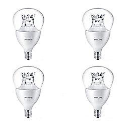 Philips LED 40W Fan A15 Candelabra Base Soft White Warm Glow (2700K- 2200K) - Case of 4 Bulbs - ENERGY STAR®
