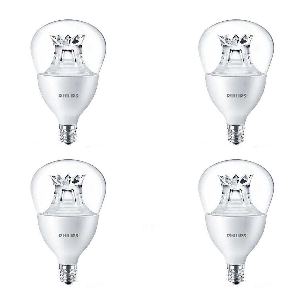 LED 40W Fan A15 Candelabra Base Soft White Warm Glow (2700K- 2200K) - Case of 4 Bulbs - ENERGY STAR®