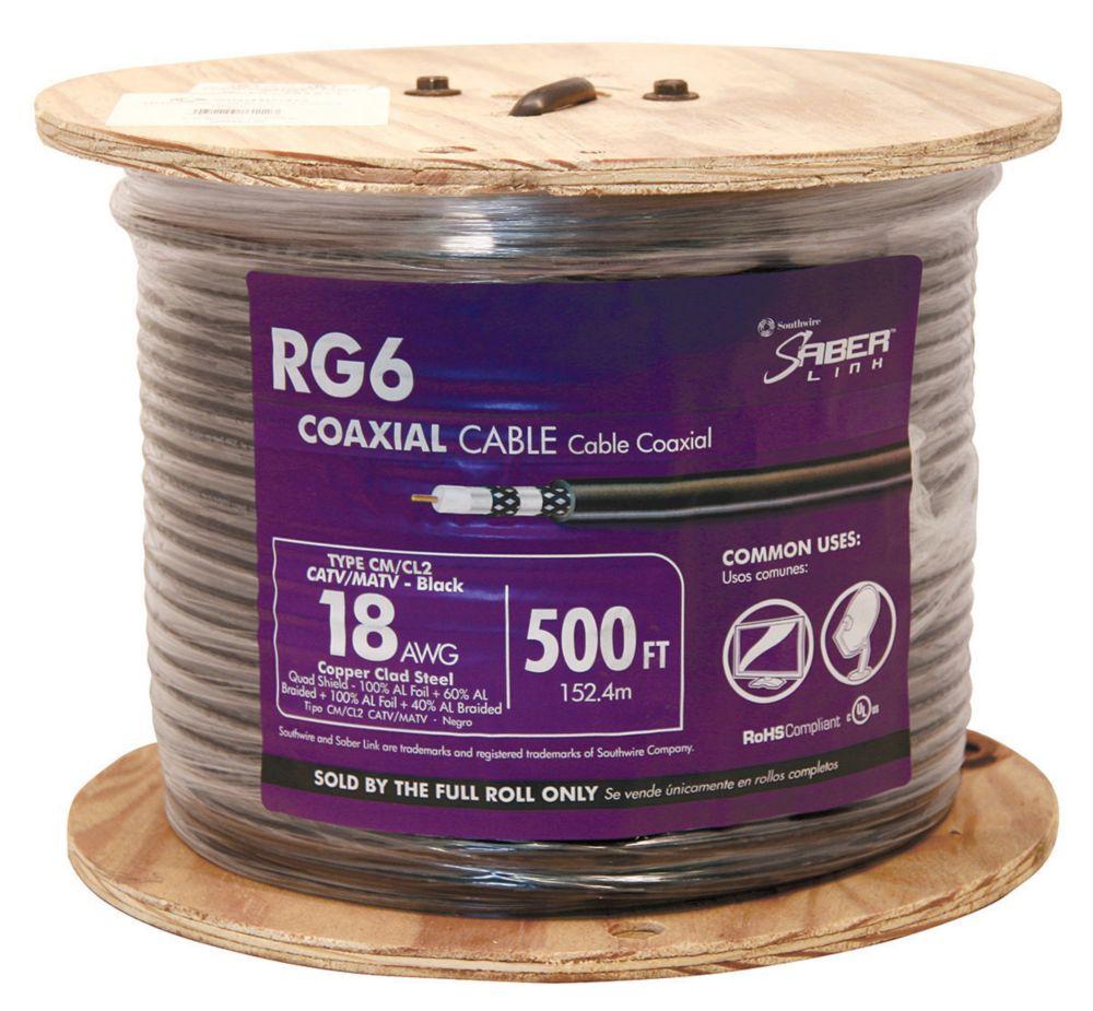 Rg6 Quad Riser Shield 152m Black