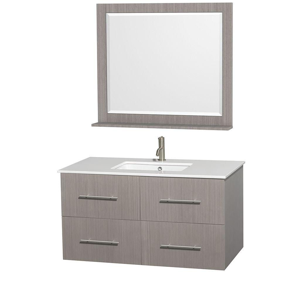 wyndham collection centra 42 inch w vanity in grey oak