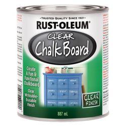 Rust-Oleum Specialty Chalk Board Paint In Flat Clear, 887 Ml