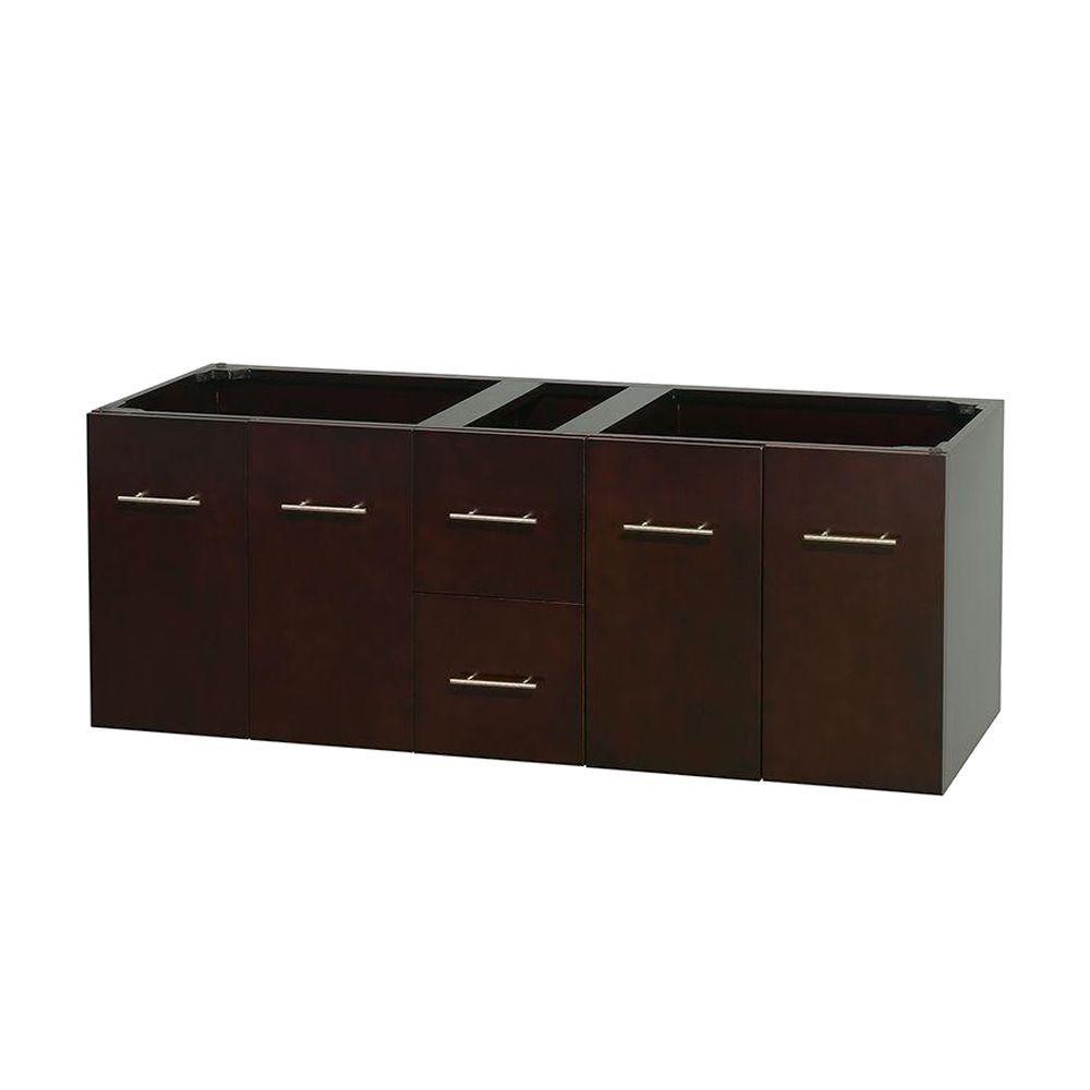 Centra 60-Inch  Double Vanity Cabinet in Espresso