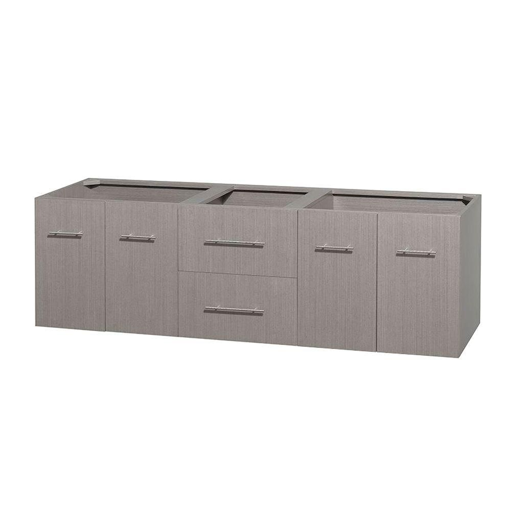 Centra 72-Inch  Double Vanity in Grey Oak