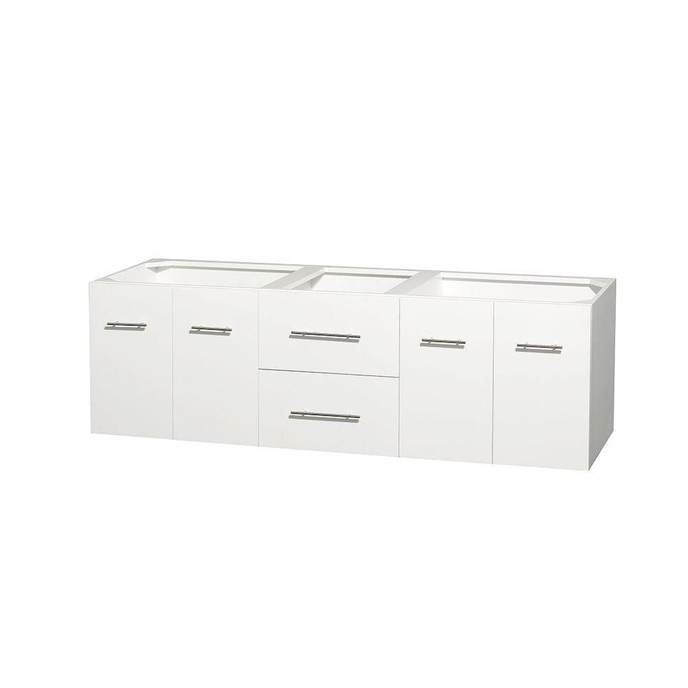 Centra 72-Inch  Double Vanity in White
