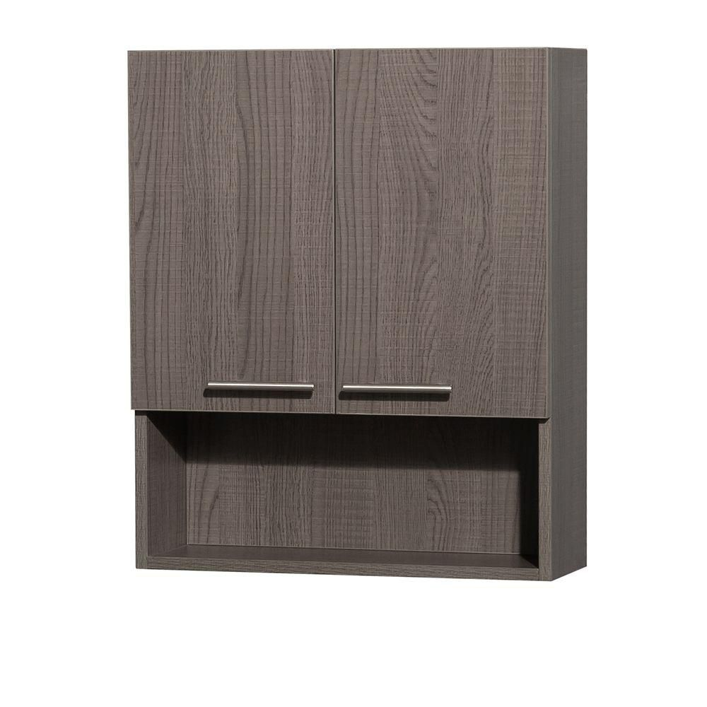 Amare Grey Oak Wall Cabinet