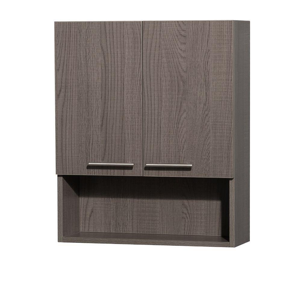 Amare Grey Oak Wall Cabinet