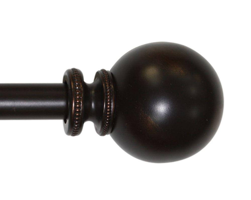 36 Inch�72 Inch ORB Premium 1 Inch Vintage Beaded Sphere Rod Set