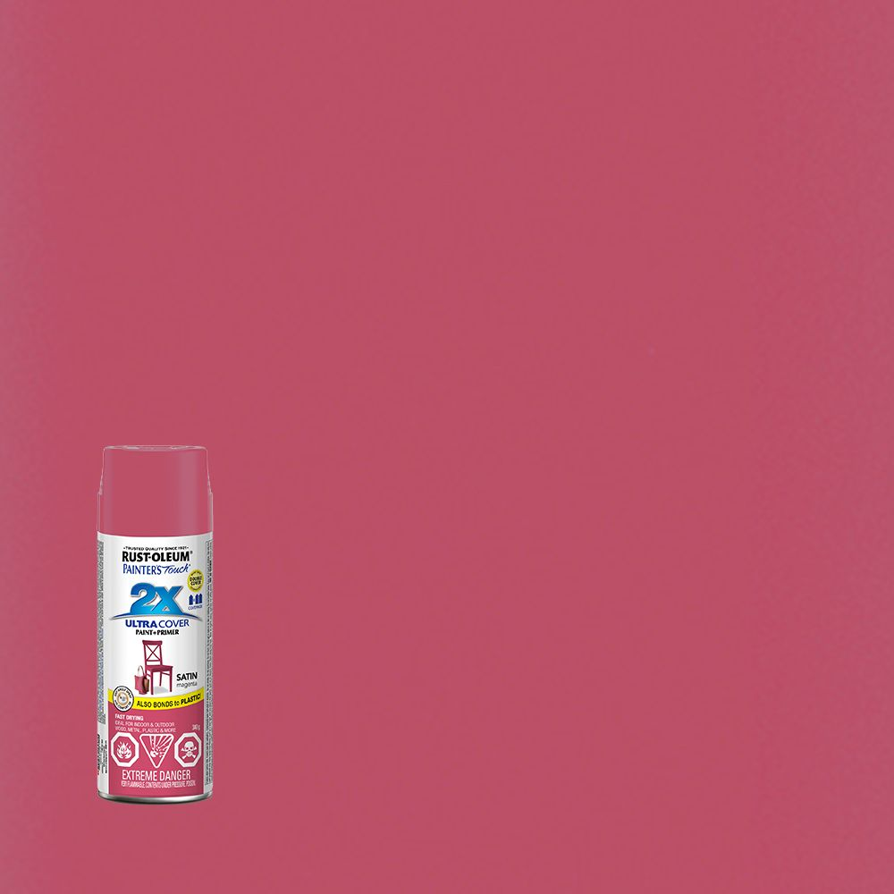 Painter's Touch 2X Pt 2x Satin Magenta Aerosol