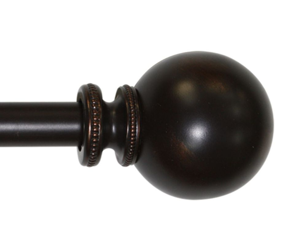 72 Inch�144 Inch ORB Premium 1 Inch Vintage Beaded Sphere Rod Set