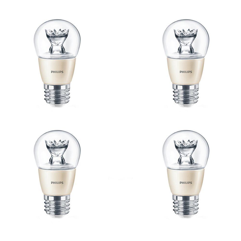Lampe de ventilateur A15 DEL 4.5W = 40W À culot moyen (2700K) - Cas de 4 Ampoules