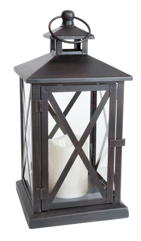 Indoor/Outdoor Lantern With Flameless Candle