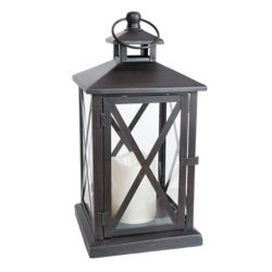 Fusion Indoor/Outdoor Lantern With Flameless Candle