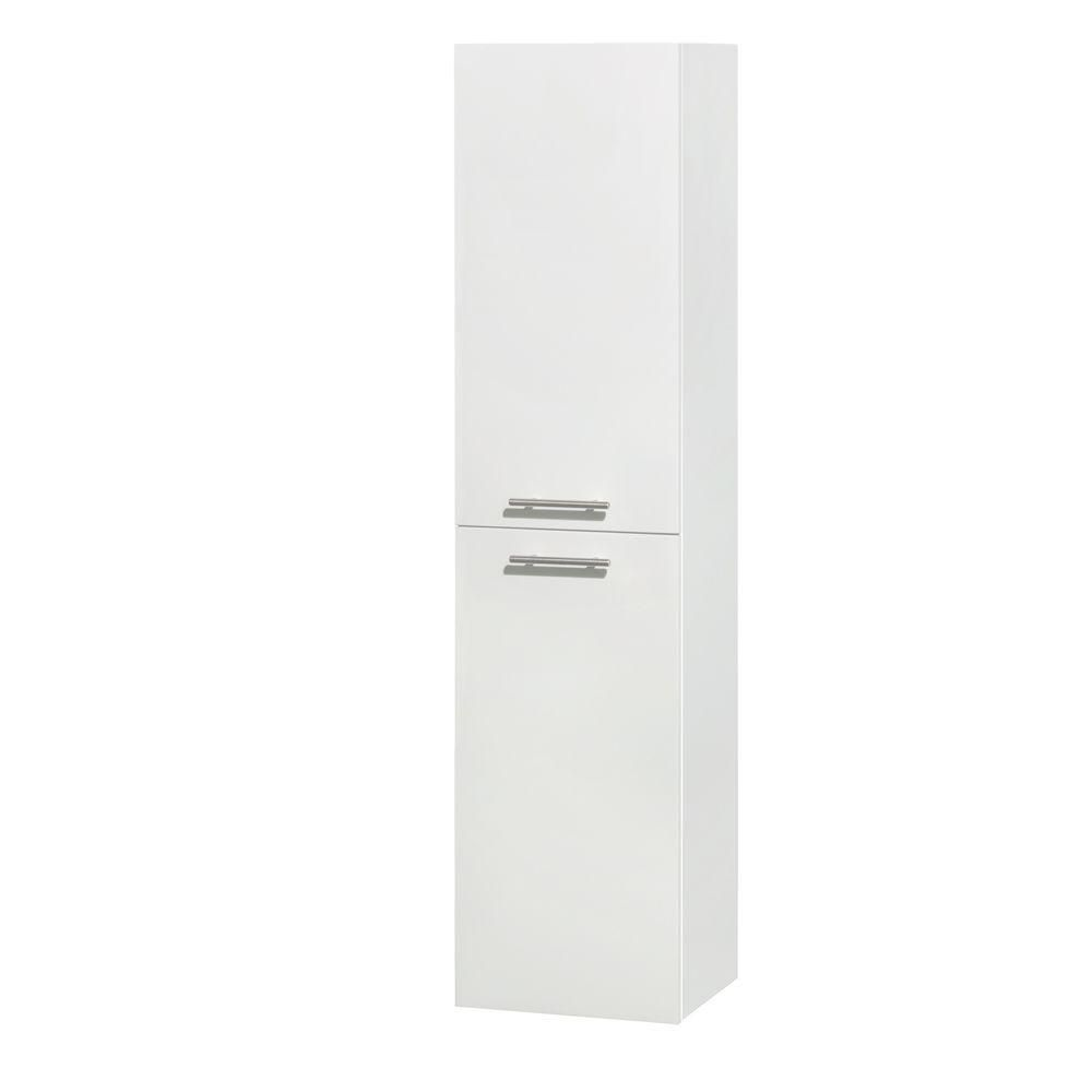 Amare Wall-Mounted Bathroom Storage Cabinet in Glossy White (Two-Door) WCRYV205WH Canada Discount