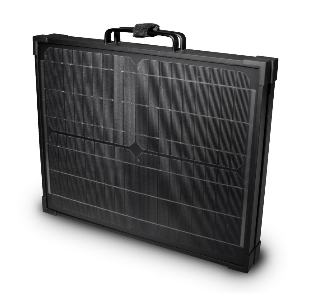 120-Watt Portable Monocrystalline Solar Panel for 12-volt Charging in Briefcase Design