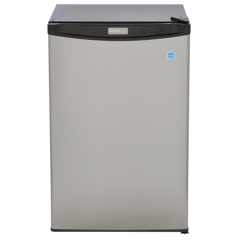 Réfrigérateur compact Designer, 4,4pi3, acier lisse
