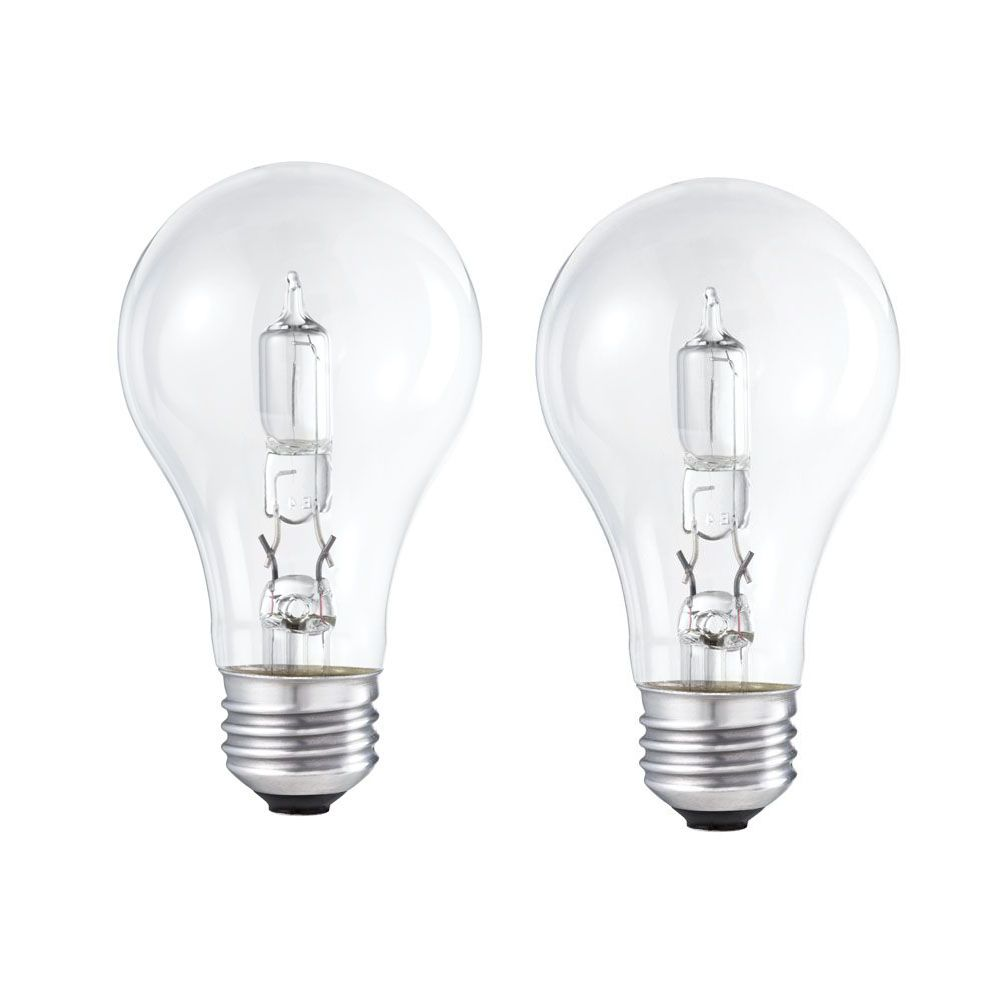 Halogen 40W A-Line (A19) Clear  2 Pack