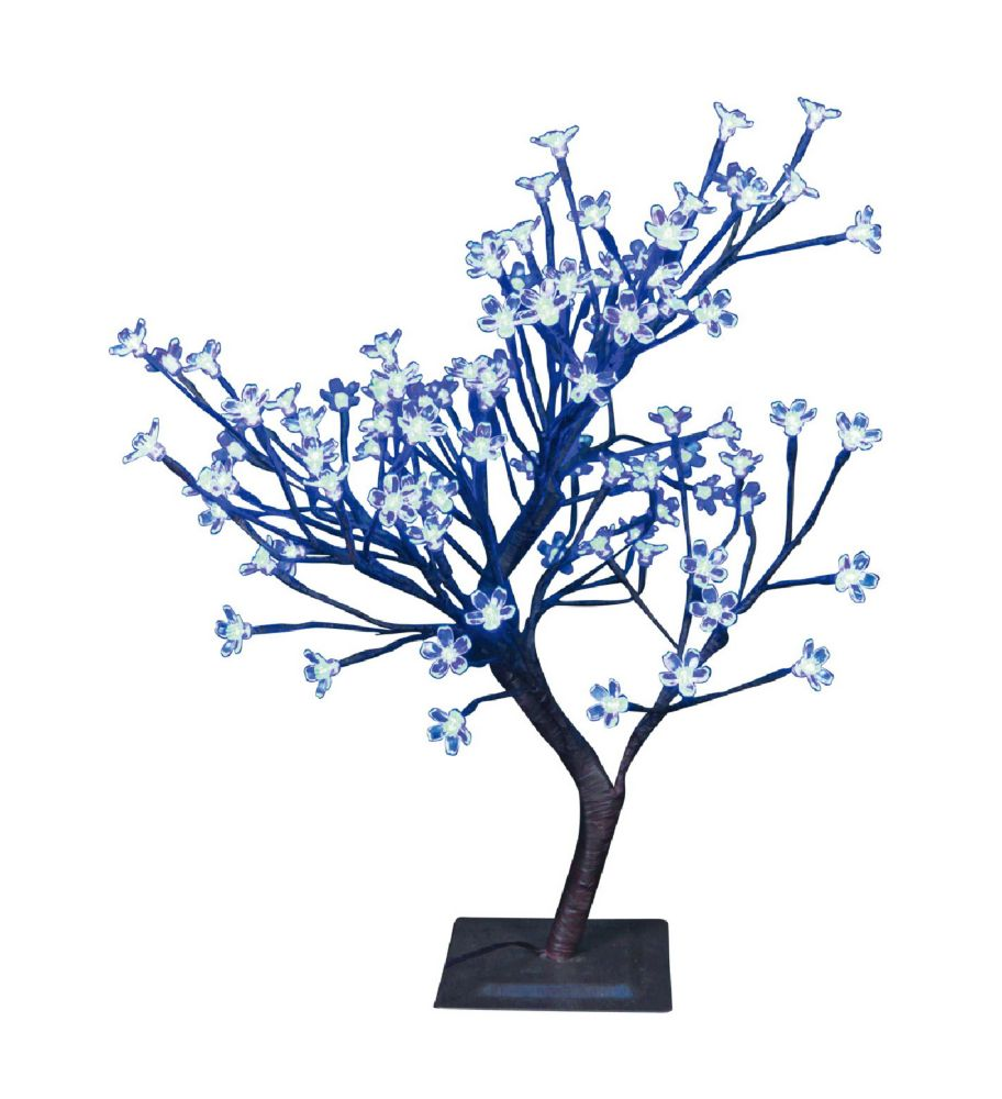 Floral Lights � Table Top Bonsai Tree- Indoor / Outdoor, 96 Blue LED Lights, 22 Inch  high, AC ad...